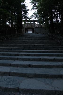 伊勢神宮・内宮 正宮前の階段