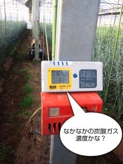 炭酸ガス計測器で計測