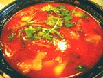 老虎紅湯(トマトと羊肉のスープ)