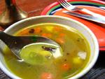 豆とキノコのスープ