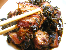 五花肉と干雪菜の焼肉