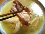 地鶏のスープ