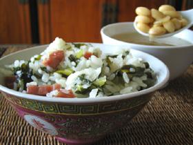 菜飯と黄豆骨頭湯