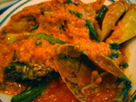 蟹と卵のカレー
