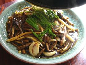 鱔絲とマコモダケの炒めもの