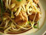 油豆腐炒黄豆芽