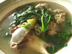 骨頭菠菜湯