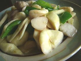 菰菜炒菱角