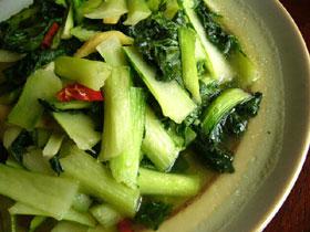 炒青菜(チンゲン菜の炒めもの)