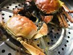 上海蟹を蒸したところ