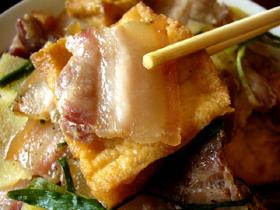 油豆腐蒸咸肉