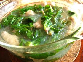 小菠菜粉絲肉片湯