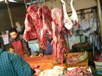 市場の牛肉屋