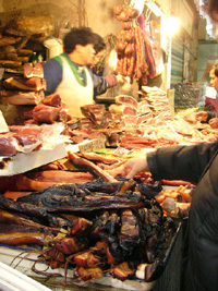 干し物の肉屋さん