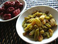干し葡萄と紅棗