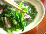 蓬蒿菜小排骨湯