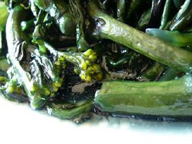 清炒紅菜苔
