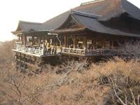 夕日の清水寺