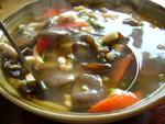 菌�豆腐湯