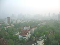 霞のかかる上海