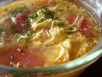 金針茹蕃茄蛋湯