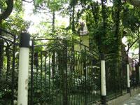 復興路の沿いにある庭