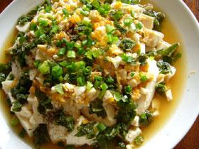 咸蛋黄拌豆腐(塩漬け卵の黄身と豆腐のあえもの)