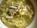 鶏腿�蛋湯(鶏腿�と卵のスープ)