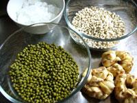 緑豆、はとむぎ、百合根、氷砂糖