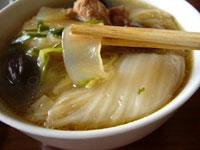 白菜粉条痩肉湯