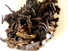 後期紅印圓茶50年代の葉底