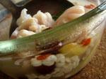 紅棗鶏頭米猪手湯(豚足とクコと棗とオニバスの実のスープ)