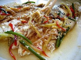 清蒸梅香魚(梅香魚の蒸しもの)