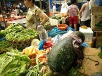 上海の野菜市場