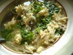 金針黄魚蛋湯(えのきと黄魚と卵のスープ)