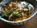 まつのはこんぶ金針豆腐湯(まつのはこんぶとえのき茸と豆腐のスープ)