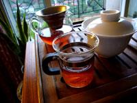 紅絲帯プーアル餅茶