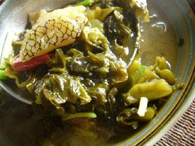 酸菜魚湯(酸っぱい漬物と魚のスープ)