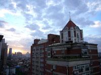 早朝の上海