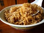 茶香鹵蹄膀の煮汁で炊いたご飯