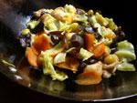炒素(揚げ豆腐と野菜の炒めもの)