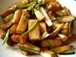 油燜菰菜(マコモダケの蒸し焼き)