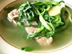 油麦菜排骨湯(油麦菜と骨付き豚肉のスープ)
