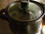 鶏一羽をスープにする用の土鍋