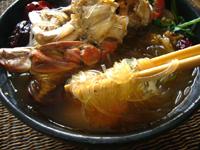 渡り蟹の麻辣火鍋
