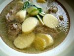 慈姑鴨腿湯(家鴨と慈姑のスープ)