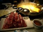 カレー火鍋の具の羊肉
