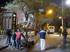上海の古い洋館で映画の撮影