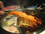 蝦の串、火鍋の具