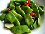芸豆(インゲン豆)の炒めもの